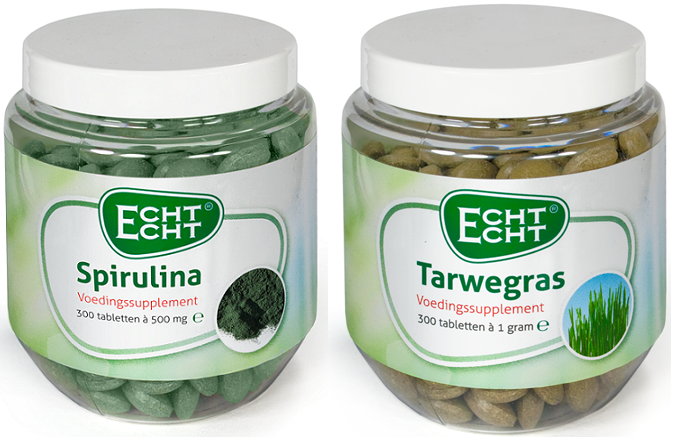 Stevia Spirulina en Tarwegras