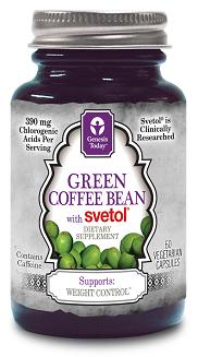 Groene koffiebonen extract.