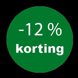 12% Korting op uw gehele bestelling!!