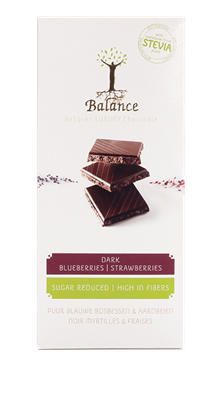 Balance Chocolade Puur Bosbes/Aardbei