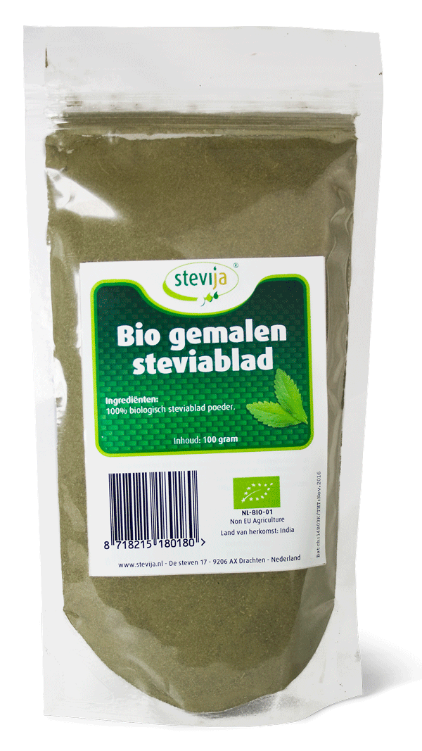 Bio gemalen steviablad (fijn)