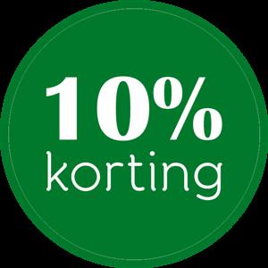 10% Korting op uw gehele bestelling!